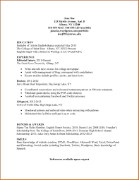 Resume Samples For College Students by Marvelous 5 College Student Resume Template For Internship