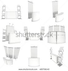 Pop Up Reception Desk with Trade Show Booth Set Rollup Popup Stock Illustration 489351160