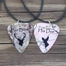 buck and doe couples necklace buck his doe necklaces guitar matching for couples