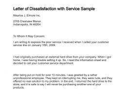 Complaints Letter To Hospital letter of dissatisfaction