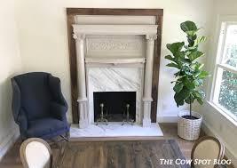 the cow spot walnut fireplace surround