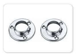 high quality wardrobe round chrome flange coat rack bracket