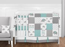 Jojo Crib Bedding Furniture Turquoise And Coral Baby Bedding 11pc Crib Set By