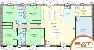 plan maison traditionnelle plain pied 116 m 4 chambres idées pour
