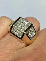 diamond rings sale images Big sale 14k gold men 39 s diamond ring men invisible set etsy jpg