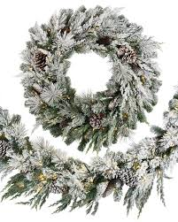 outdoor frosted evergreen foliage balsam hill