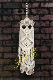 Macrame Home Decor by Macrame Windchimes Macrame Ceramic Windchime Home Decor