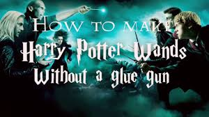 how to make your own harry potter wands without a glue gun youtube