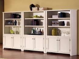 Bookcase With Doors White by Highly Rated Bookcases White Wood With Custom Examples Designs