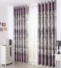 vintage bedroom curtains gray patterned print poly cotton blend vintage curtains for bedroom