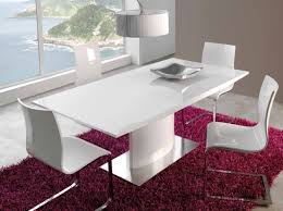 Meuble Salle A Manger Blanc Laque by Table A Manger Blanc Laque Extensible Connor