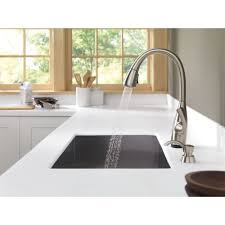 delta allora kitchen faucet delta dominic single handle pull down kitchen faucet touch2o