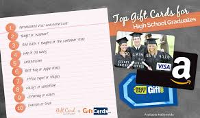 top 10 gift cards for high school graduates gcg