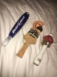 bud light beer tap handle lot of 3 beer tap handle shock top belgian white bud light stella