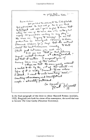 the great gatsby author u0027s correspondence in the final paragraph