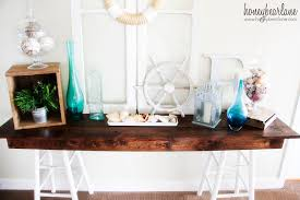 Pottery Barn Knock Off Desk Pottery Barn Knockoff Sawhorse Console Table Honeybear Lane
