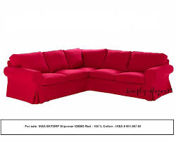 Pictures Of Corner Sofas Ikea Ektorp 2 2 Corner Sofa Cover Slipcover Idemo Red Ebay