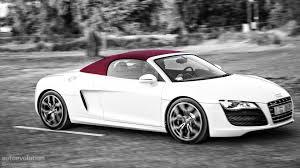 Audi R8 White - audi r8 v10 spyder review autoevolution