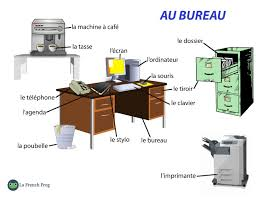 le du bureau exercise available le vocabulaire du bureau la frog