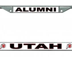 byu alumni license plate frame of utah etsy