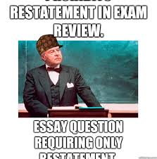 Contract Law Meme - prohibits restatement in exam review essay question requiring