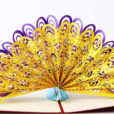 3d pop up card peacock 3d greeting pop up card birthday easter