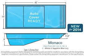 swimming pool sizes monaco large fiberglass inground viking swimming pool