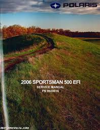 polaris sportsman 500 efi atv service repair manual