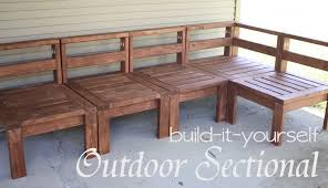 Plans To Build Wood Patio Furniture by More Like Home 2x4 Outdoor Sectional