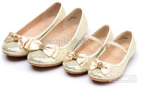 gold color parent shoes special beads decoration high quality