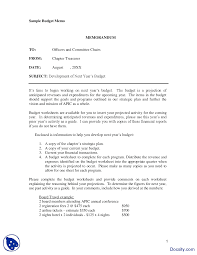 Complete Budget Worksheet Memorandum Sample Communication In Business Lecture Handout