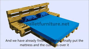 instructions of how to make a bed with pallets youtube