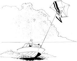 parasailing coloring pages