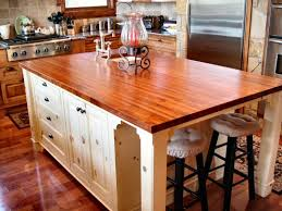 kitchen island chopping block wood or butcher block