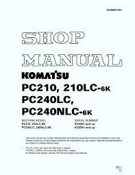 komatsu hydraulic excavator pc210 210lc 6k pc240lc pc240nlc 6k