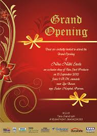 Invitation Card For Grand Opening Invitation Card