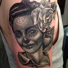 tattoo nightmares is located where dia de los muertos tattoo by big gus of tattoo nightmares tatoos