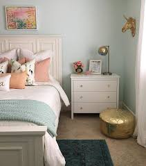 guest bedroom inso wall color is embellished blue by sherwin williams mixed at