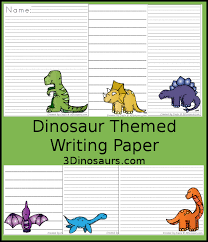 themed paper roaring dinosaur themed writing paper for kids 3 dinosaurs