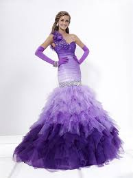 funky ombre prom dresses