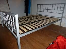 Metal Bed Frame With Wooden Slats Size Metal Platform Bed Frame With Wood Slats Home Design Ideas