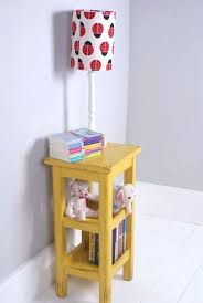 Yellow Side Table Table Lamp Side Table Vintage Yellow Wooden Bedside Storage