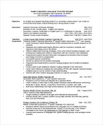 Spanish Teacher Resume Examples by Sample Tutor Resume Template 7 Free Sample Examples Formats