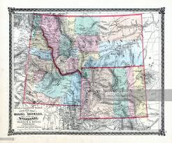 County Map Of Illinois Illinois 1876 County Map Of Idaho Montana Wyoming La Salle County