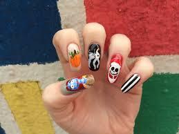 weeklywackynails nightmare before christmas nail art