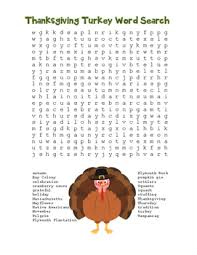 thanksgiving turkey word search color black line