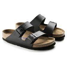 Preferidos Birkenstock Arizona Birko-Flor Black Soft Footbed Sandals @AH24