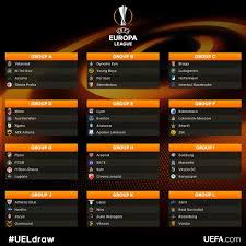 2017 2018 uefa europa league draw xclusive hit