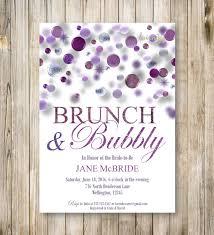 brunch u0026 bubbly bridal shower invitation purple bridal brunch
