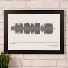 personalised wall art gettingpersonal co uk personalised soundwave print